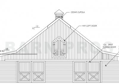 Barn Side Elevation